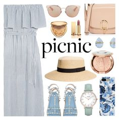 """""""Picnic in the Park"""" by dora04 ❤ liked on Polyvore featuring Alice + Olivia, CLUSE, Sephora Collection, Too Faced Cosmetics, Yves Saint Laurent, MICHAEL Michael Kors, Melissa Joy Manning, Christian Dior and picnic"""