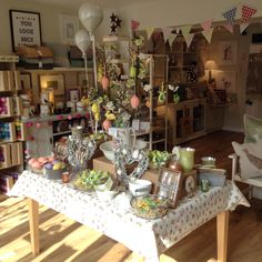 Nora's Ilkley, gift shop, interiors Yorkshire Spring / Easter 2015 Visual Merchandising Retail display