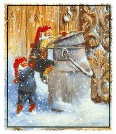 Jonnie Jacobsen Norway Christmas, Christmas Fairy, Christmas Clipart, Christmas Cards, Fairy Land, Fairy Tales, Scandinavian Christmas, Gnomes, Elves