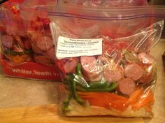 Crockpot sausage and peppers - serve over cauliflower mash