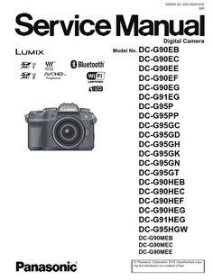 Panasonic Lumix DC G9 Service Manual and Repair Guide