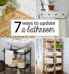 Great ideas for the small houses! :-) 7 Ways to Update a Bathroom Without Renovating
