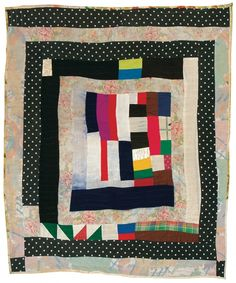 Gee's Bend quilter Jennie Pettway - Medallion variation - c. 1975 Cotton, rayon, polyester, corduroy 82 x 72 inches Antique Quilts, Vintage Quilts, Gees Bend Quilts, African Quilts, Medallion Quilt, Log Cabin Quilts, Textiles, Art Textile, Contemporary Quilts
