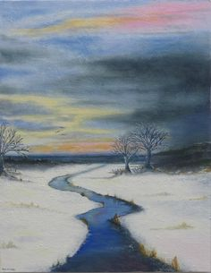 Image of A Winters Eve  #Oils #StIves #Cornwall