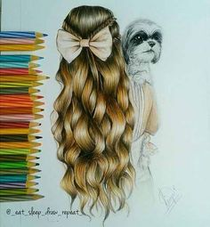 Girl and Puppy art