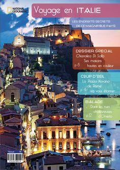 Exercice chaine éditoriale presse InDesign: Faire la couverture d'un magazine sur le voyage.