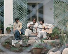 The Beatles in India 1968.
