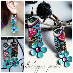 Boucles d'oreilles ethnique chic hippie *Art tribal