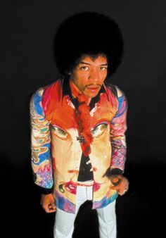 Jimi Hendrix promo photo 1967 in jacket hand painted by chris jagger( mick jaggers brother)