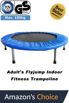 FA Sports FlyJump Indoor Fitness Trampoline, Ø Black and Blue Birthday Gifts For Husband, Birthday Presents, 40th Birthday, Trampoline Workout, Stability, Flow, Great Gifts, Indoor, Weight Loss