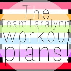 All the girl's personalized schedules for their workouts!