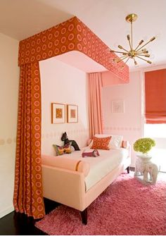 """Love this """"grown up"""" pink bedroom"""