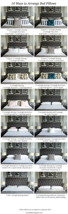 Pretty Dubs: 14 WAYS TO ARRANGE BED PILLOWS