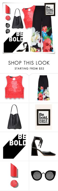 """""""Be Bold"""" by groove-muffin ❤ liked on Polyvore featuring Bebe, Ted Baker, Urban Outfitters, Marc Jacobs, Chanel and Quay"""