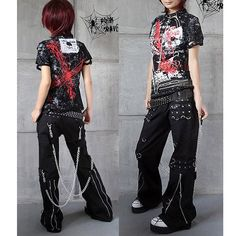Gothic and Punk Rock Clothing Mens Womens Chain Pants Trousers - love the pants. I have some that are similar, but would love to purchase these... Love these pants soooo much
