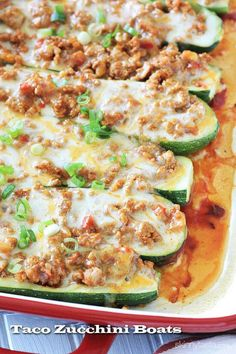 Taco Zucchini Boats | A great alternative if you don't want the carbs of a tortilla shell.