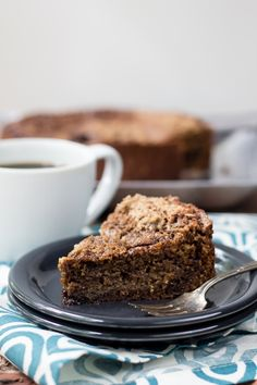 Espresso streusel coffee cake is full of coffee and spices. You'll love it for brunch this weekend!