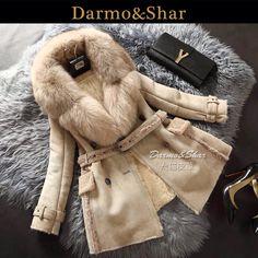 d3743141d3b Sheepskin fur lux coat от FURSNOWQUEEN на Etsy Suede Trench Coat, Fox Fur  Coat,