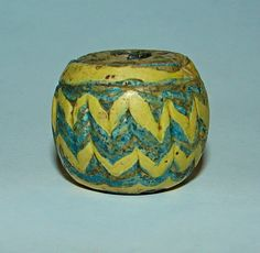 Superb Ancient Islamic mosaic Wave Glas Color Bead Great size 25-28mm. #islamicart #islamicbead #beads #ancient