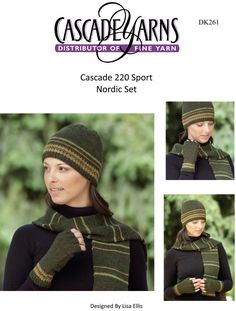Nordic Set in Cascade 220 Sport - DK261. Discover more Patterns by Cascade Yarns at LoveKnitting. The world's largest range of knitting supplies - we stock patterns, yarn, needles and books from all of your favorite brands.