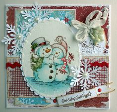 Stampavie, Christmas card, julekort, Distress Ink