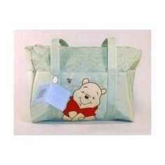 Winnie the Pooh Sage Green Diaper Bag Tote