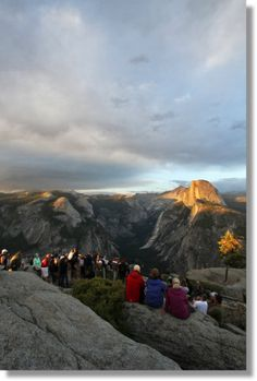 Yosemite--Glacier Point at Sunset (Half Dome in the Distance)