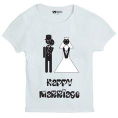 T-shirt da uomo HAPPY MARRIAGE by Spiriti Ribelli.