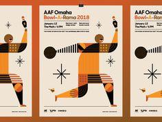 AAF Omaha Bowl-A-Rama 2018 Poster