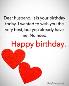 Happy Birthday Wishes For Husband _ Romantic Birthday Messages For Husband - My Wishes Club Birthday Message For Husband, Happy Birthday For Him, Funny Happy Birthday Wishes, Happy Birthday Quotes For Friends, Birthday Wishes Quotes, Funny Husband Birthday Quotes, Funny Quotes For Husband, Birthday Poems For Husband, Birthday Wishes For Love