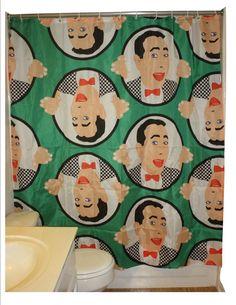 PEE WEE HERMAN shower curtain original drawing by kayciwheatley, $62.00