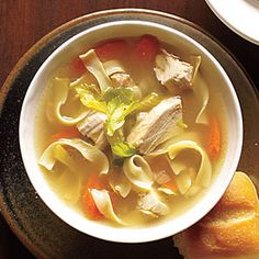 Old-Fashioned Chicken Noodle Soup to warm you up. With phase-appropriate noodles, this serves 5 for Phase 1 (use all chicken breast, and add a half-grain serving on the side) or Phase 3.