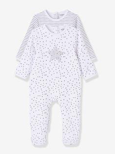 Lot de 2 pyjamas bébé en molleton imprimé pressionnés dos Vertbaudet 19euros