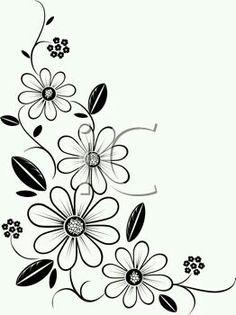Hawaiian Flower Clip Art Black And White | Clipart Panda - Free ...