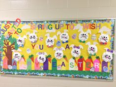 Bilingual Kindergarten - Rieck Ave. School in Millville ,NJ Easter Bulletin Board - Teachers Ms. Bruno & Ms. Evy