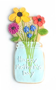 Mason Jar Cookie for Mother's Day by Baked Ideas