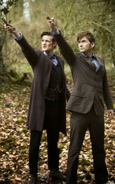 David Tennant and Matt Smith in the Doctor Who 50th Anniversary Special