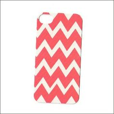 tangerine and cream chevron iphone 4 case iphone by icasecouture, $16.00