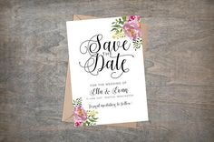 Save The Date Printable Save The Date Custom Wedding
