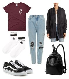 Untitled #36 by adekoooo on Polyvore featuring polyvore fashion style Kenneth Cole adidas Vans clothing