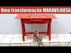 Pintura de Móveis - Aprenda uma técnica MARAVILHOSA !!! #transformamos - YouTube Diy Videos, Entryway Tables, Pallet, Furniture, Youtube, Home Decor, Antique Sideboard, Colored Dresser, Vintage Telephone