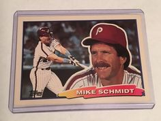 MIKE SCHMIDT 1988 TOPPS CARD #88 MLB PHILADELPHIA PHILLIES FREE SHIPPING #PhiladelphiaPhillies