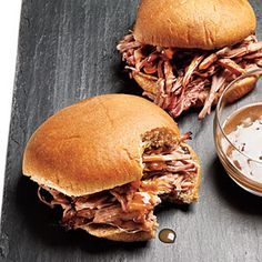 Pulled Pork Sandwiches with Mustard Sauce | CookingLight.com