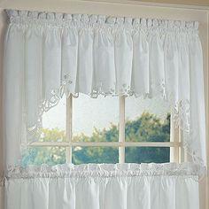 Battenburg Floral Kitchen Curtains