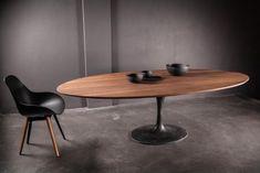 Oval Table, Dinning Table, Dining Area, Mesa Tulip, Saarinen Table, Tulip Table, Dining Room Inspiration, Wood Texture, Kitchen Furniture