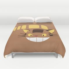 Cute Catbus Duvet Cover by minettewasserman Duvet Covers, Bed, Cute, Shirts, Furniture, Home Decor, Decoration Home, Stream Bed, Room Decor