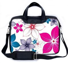 MySleeveDesign 17  173 Notebook Carry Bag Laptop Bag with Shoulder Strap 133 Inch  14 Inch  156 Inch  173 Inch  SEVERAL DESIGNS  Pink Flowers ** See this great product. (Note:Amazon affiliate link)