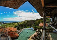The amazing view overlooking the Pacific Ocean at Casa De Los Suenos.
