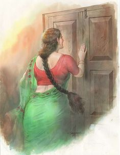Ravivarma Paintings, Indian Art Paintings, Sexy Painting, Woman Painting, Indian Women Painting, Indian Drawing, Desi Models, Kerala India, Beautiful Indian Actress