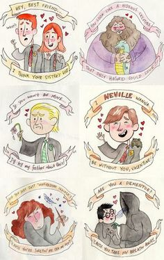 Harry Potter and the Ultimate Valentine. I really hope that when valentine comes around a hot geek gives the weasley card to my brother! Fanart Harry Potter, Harry Potter Love, Harry Potter Memes, No Muggles, Yer A Wizard Harry, My Sun And Stars, Fandoms, Mischief Managed, Fantastic Beasts